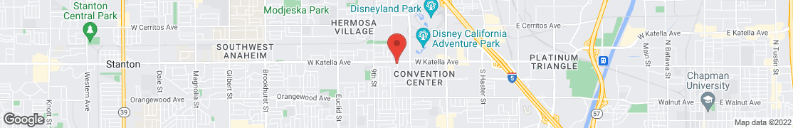 Map of 1168 W Katella Ave in Anaheim