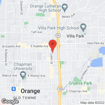 Map of Arby's at 1107 N. Tustin St., Orange, CA 92867