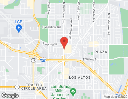 Map of 2860 N Bellflower Blvd in Long Beach