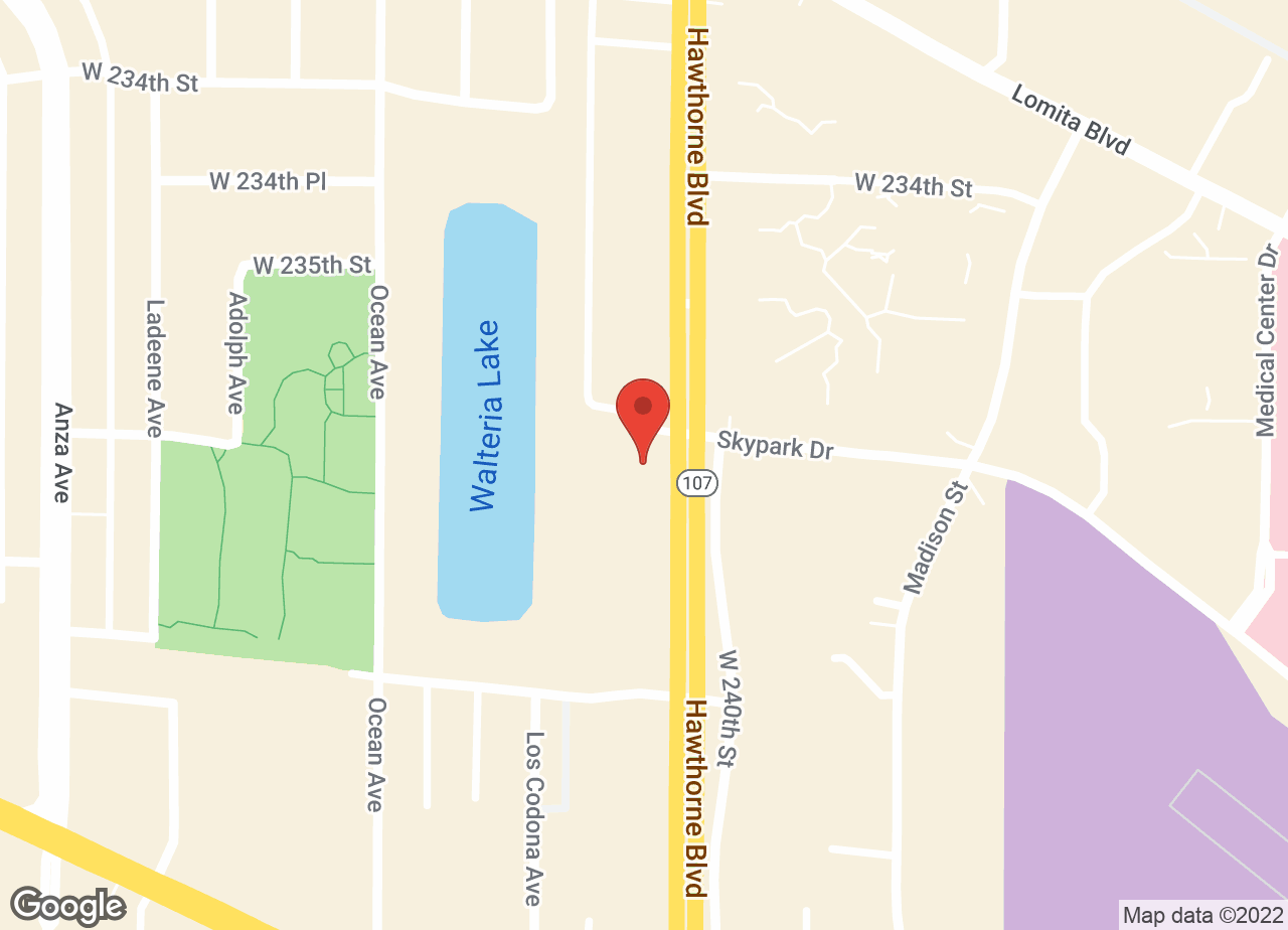 Google Map of VCA Pacific Veterinary Center