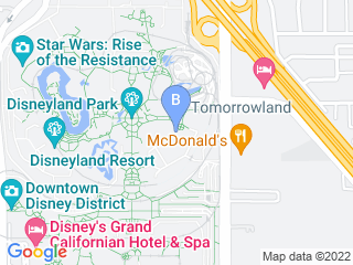 Map of Disneyland Kennel Club Dog Boarding options in Anaheim | Boarding