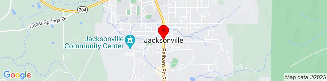 Google Map of 33.8137125, -85.76135359999999