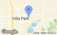 Map of Villa Park, CA