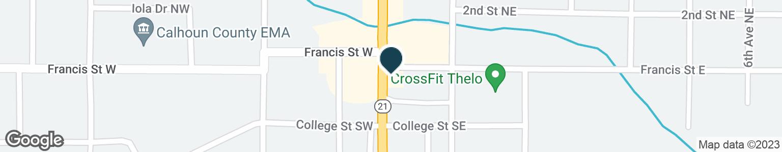 Google Map of311 PELHAM RD S