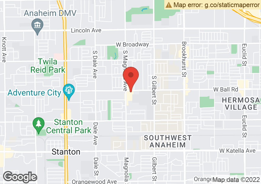 Google Map of 2560 W BALL RD