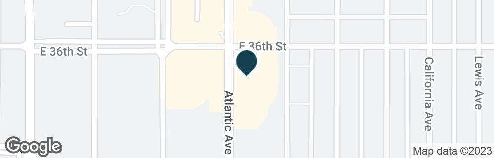 Google Map of3570 ATLANTIC AVE