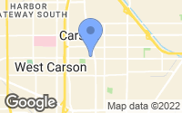 Map of Carson, CA