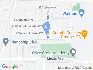 Map of Dogs Go Walkin' Dog Boarding options in Orange | Boarding