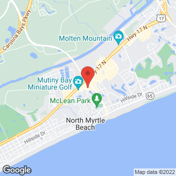 Map of 1st Franklin Financial at 761 Main Street, North Myrtle Beach, SC 29582