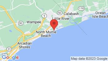 Map of Cherry Grove Beach