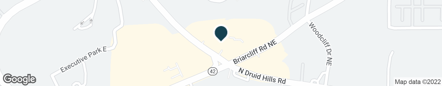 Google Map of2320 N DRUID HILLS RD NE