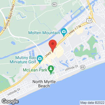 Map of Tuesday Morning at 240 Highway 17 North, North Myrtle Beach, SC 29582