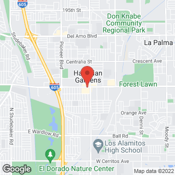 Map of Check `n Go at 12140 East Carson Street, Hawaiian Gardens, CA 90716