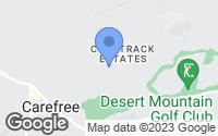 Map of Carefree, AZ