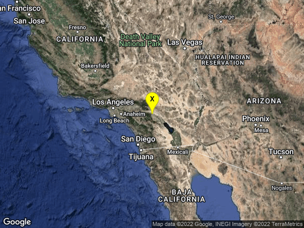 earthquake 3km WNW of Palm Springs, CA