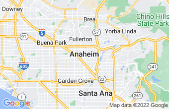 Map of Anaheim