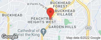 Map of 2970 Peachtree Rd NW in Atlanta