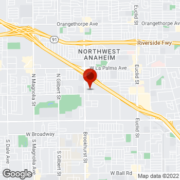 Map of Staples® Print & Marketing Services at 790 North Brookhurst St., Anaheim, CA 92801