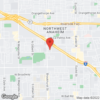 Map of Staples at 790 North Brookhurst St., Anaheim, CA 92801