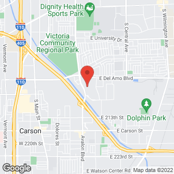 Map of Panera Bread at 20700 Avalon Boulevard, Carson, CA 90746
