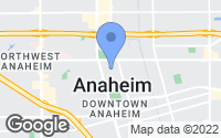 Map of Anaheim, CA