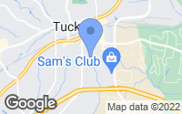 Map of Tucker, GA