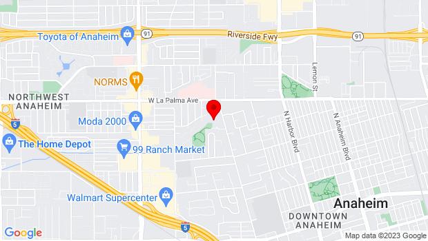 Google Map of 995 West Street, Anaheim, CA 92801