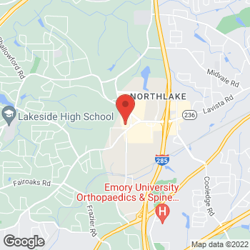 Map of Panera Bread at 2100 Henderson Mill Rd, Atlanta, GA 30345