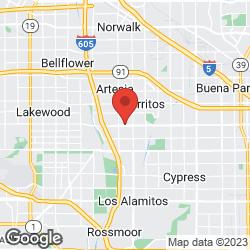 Cerritos Baptist Church on the map