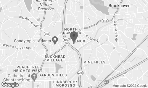 Map of 3393 Peachtree Road NE in Atlanta
