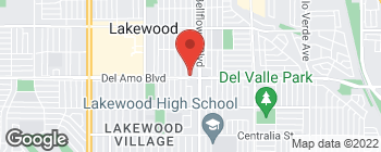 Map of 5445 Del Amo Blvd in Lakewood