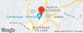 Map of 3405 Piedmont Rd NE in Atlanta