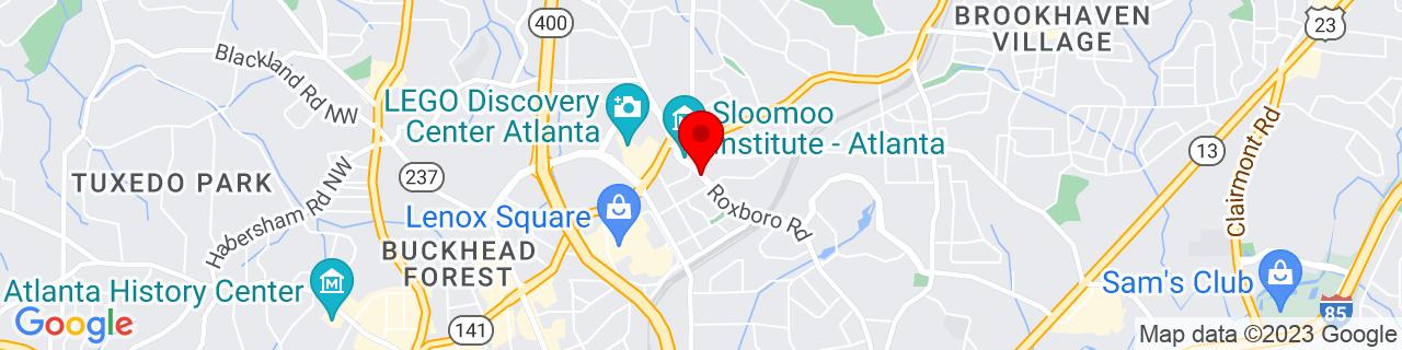 Google Map of 33.8512683, -84.3573132