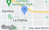Map of La Palma, CA