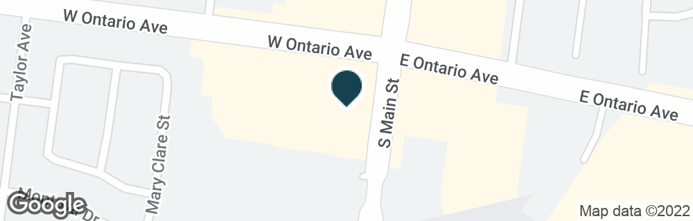 Google Map of100 W ONTARIO AVE