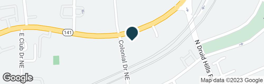 Google Map of3925 PEACHTREE RD NE