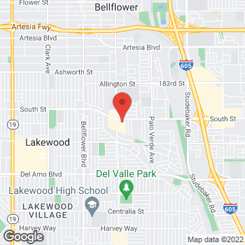 Map of Rite Aid at 5520 Woodruff Avenue, Lakewood, CA 90713