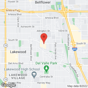 Map of Arby's at 5920 E South St, Lakewood, CA 90713