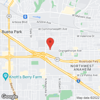 Map of Check `n Go at 2617 West Orangethorpe Avenue, Fullerton, CA 92833
