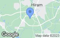 Map of Hiram, GA