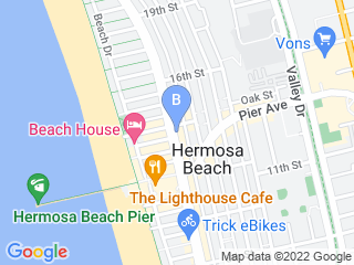 Map of Dog Walking South Bay Dog Boarding options in Hermosa Beach | Boarding