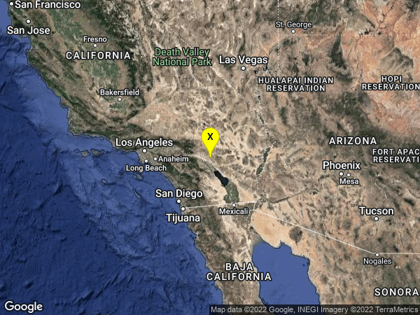 earthquake 16km N of Indio, CA
