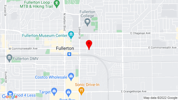 Google Map of 400 East Commonwealth Avenue, Suite 4, Fullerton, CA 92832