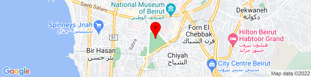 Google Map of 33.871944444444445, 35.50972222222222