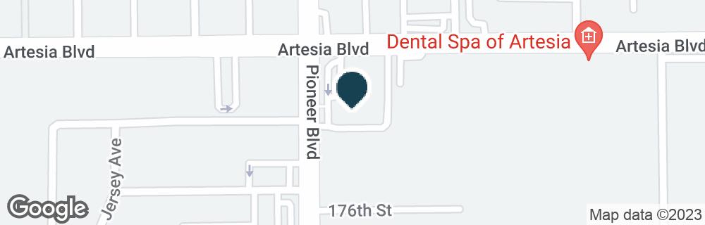 Google Map of11800 ARTESIA BLVD