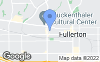 Map of Fullerton, CA