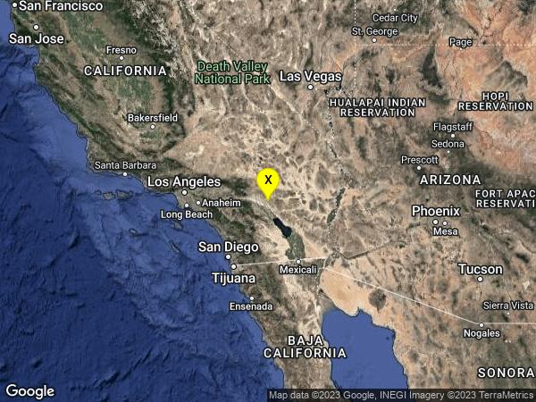earthquake 17km N of Indio, CA
