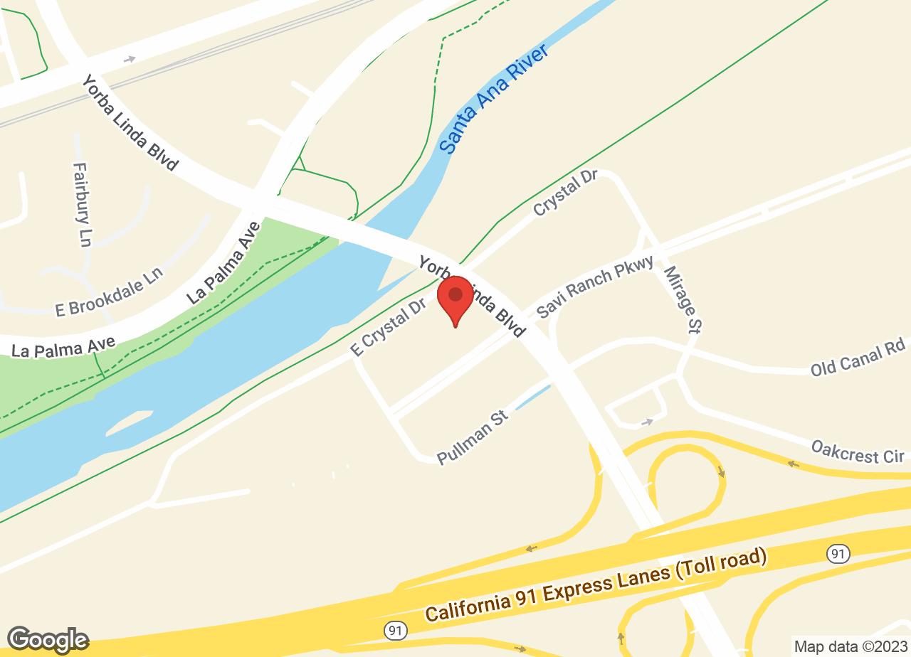 Google Map of VCA Yorba Regional Animal Hospital