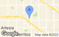 Map of Cerritos, CA