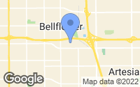 Map of Bellflower, CA